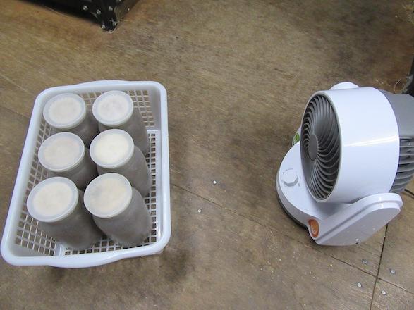 サーキュレータを用いてボトルの温度慣らし